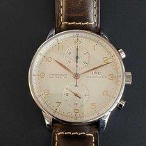 IWC Portugieser Chronograph Stahl 41mm Weiß Arabisch Deutschland, erlangen