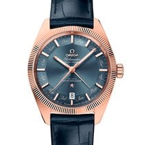Omega Rose gold Automatic Blue No numerals 41mm new Globemaster