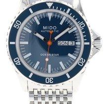 Mido Ocean Star Stal 40.5mm Niebieski