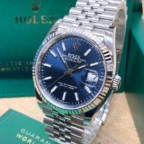Rolex Datejust Steel 36mm Blue No numerals United Kingdom, Wilmslow