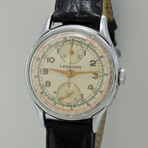 Leonidas pre-owned Manual winding 36mm Silver Plexiglass