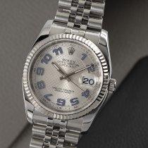 Rolex Datejust Goud/Staal 36mm Zilver