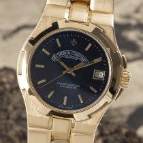 Vacheron Constantin Yellow gold Automatic Blue 37mm pre-owned Overseas