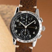 Eberhard & Co. Tazio Nuvolari pre-owned 39mm Black Chronograph Calf skin