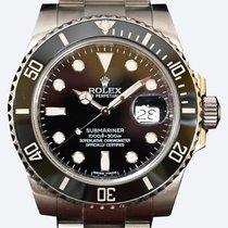 Rolex Submariner Date Acciaio 40mm Nero Senza numeri