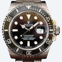 Rolex Submariner Date Сталь 40mm Черный Без цифр