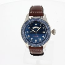 IWC Pilot Staal 46mm Blauw
