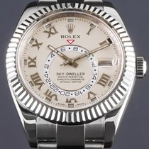 Rolex Sky-Dweller Oro blanco 42mm Blanco Romanos