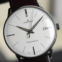 Junghans Meister Chronometer Stal 38,4mm Biały Bez cyfr