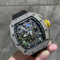 Richard Mille new Automatic Display back Gemstones and/or diamonds 49.94mm White gold