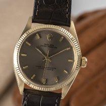 Rolex Oyster Perpetual 34 Gult guld 34mm Grå