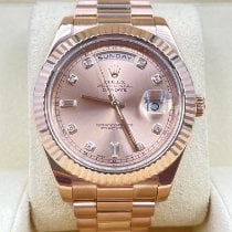 Rolex Day-Date II Or rose 41mm Rose Romains