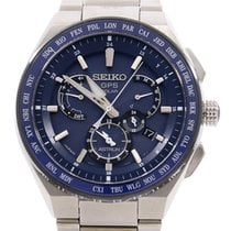 Seiko Astron GPS Solar pre-owned 46mm Blue