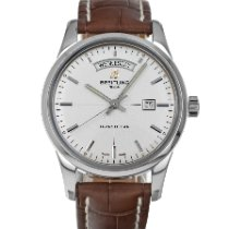 Breitling Transocean Day & Date Steel 43mm Silver No numerals United States of America, Maryland, Baltimore, MD