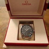 Omega Seamaster Aqua Terra gebraucht 38mm Blau Datum Stahl