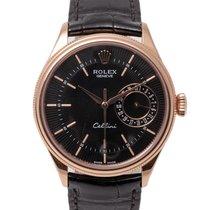 Rolex Cellini Date подержанные 39mm Черный Дата Кожа аллигатора