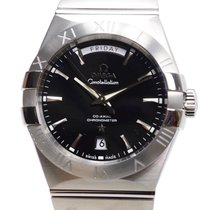 Omega Constellation Day-Date Acero 38mm Negro Sin cifras