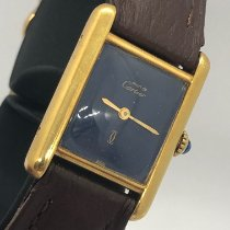 Cartier Tank Vermeil Silver 20mm Blue Roman numerals United States of America, New York, New York, Miami Office