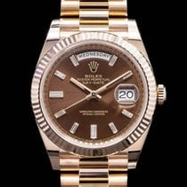 Rolex 37011 Rose gold 2016 Day-Date 40 40mm pre-owned United States of America, Massachusetts, Boston