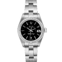 Rolex Oyster Perpetual Lady Date Steel 25mm Black