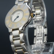 Cartier 21 Must de Cartier Gold/Steel 31mm White No numerals