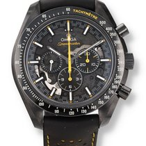 Omega Ceramic Chronograph Black 44.2mm pre-owned Speedmaster Professional Moonwatch