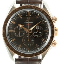 Omega Speedmaster Broad Arrow Gold/Steel 42mm Brown