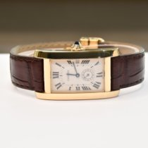 Cartier Tank Américaine Yellow gold 23.5mm Champagne Roman numerals