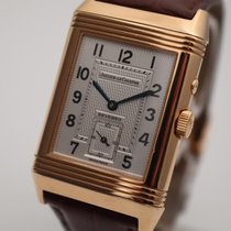 Jaeger-LeCoultre Red gold Manual winding Silver Arabic numerals 36.5mm pre-owned Reverso (submodel)