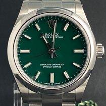 Rolex Oyster Perpetual 31 Acier 31mm Vert Sans chiffres Belgique, Antwerpen