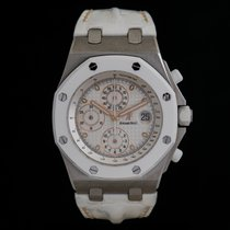 Audemars Piguet Stahl Automatik Weiß 42mm neu Royal Oak Offshore Chronograph