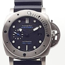 Panerai Luminor Submersible 1950 3 Days Automatic Titane 47mm Noir Sans chiffres