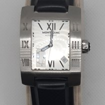 Montblanc Profile pre-owned 39mm Silver Leather