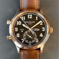 Patek Philippe Travel Time Pозовое золото 42mm Коричневый Aрабские