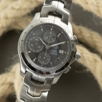 TAG Heuer Link pre-owned 41mm Grey Chronograph Date Steel