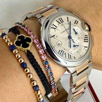 Cartier Ballon Bleu 44mm Золото/Cталь 44mm Cеребро Римские