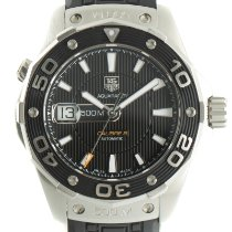TAG Heuer Aquaracer 500M pre-owned 43mm Black Date Rubber