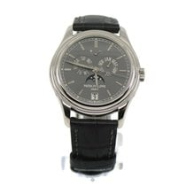 Patek Philippe Platinum Automatic Grey No numerals 39mm pre-owned Annual Calendar