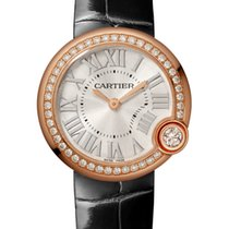 Cartier Ballon Blanc Pозовое золото 30mm Cеребро Римские