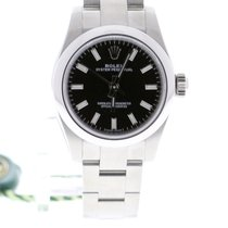 Rolex Oyster Perpetual 26 Steel 26mm Black No numerals