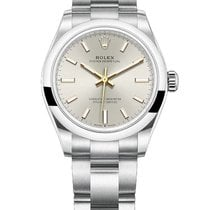 Rolex Oyster Perpetual 31 Acero 31mm Plata Sin cifras