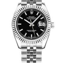 Rolex Lady-Datejust 31mm Noir Sans chiffres