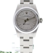 Rolex Oyster Perpetual 26 Stål 26mm Silver Inga siffror