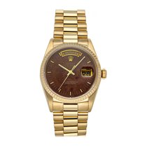 Rolex Day-Date 36 Yellow gold 36mm Brown No numerals United States of America, Pennsylvania, Bala Cynwyd