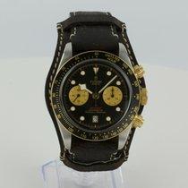 Tudor Black Bay Chrono pre-owned 41mm Black Chronograph Leather