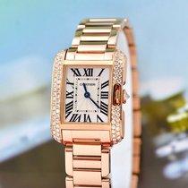 Cartier Tank Anglaise новые 2014 Кварцевые Часы с оригинальными документами и коробкой WT100002