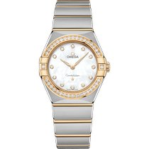 Omega Constellation Quartz Gold/Steel 28mm Mother of pearl No numerals