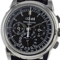 Patek Philippe Perpetual Calendar Chronograph nouveau 2010 Remontage manuel Chronographe Montre avec coffret d'origine et papiers d'origine 5970P-001