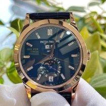 Patek Philippe Pозовое золото Автоподзавод Синий Без цифр 38.5mm новые Annual Calendar