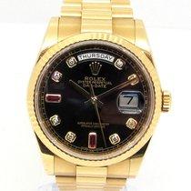 Rolex Day-Date 36 usados 36mm Negro Fecha Oro amarillo